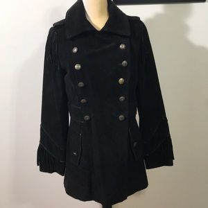 Scully Genuine Suede Leather & Fringe Coat